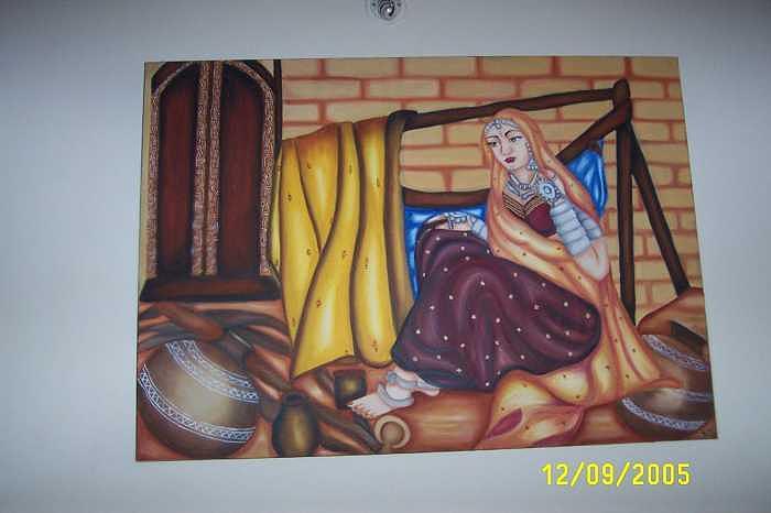 Indian Beauty Painting by Shikha Aggarwal