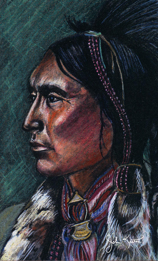 American Indian Painting - Indian Brave by John Keaton