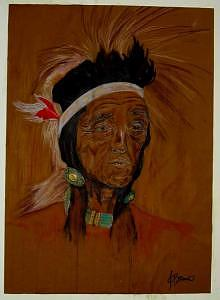 Indian Painting - Indian Cheif by Jessica Brown