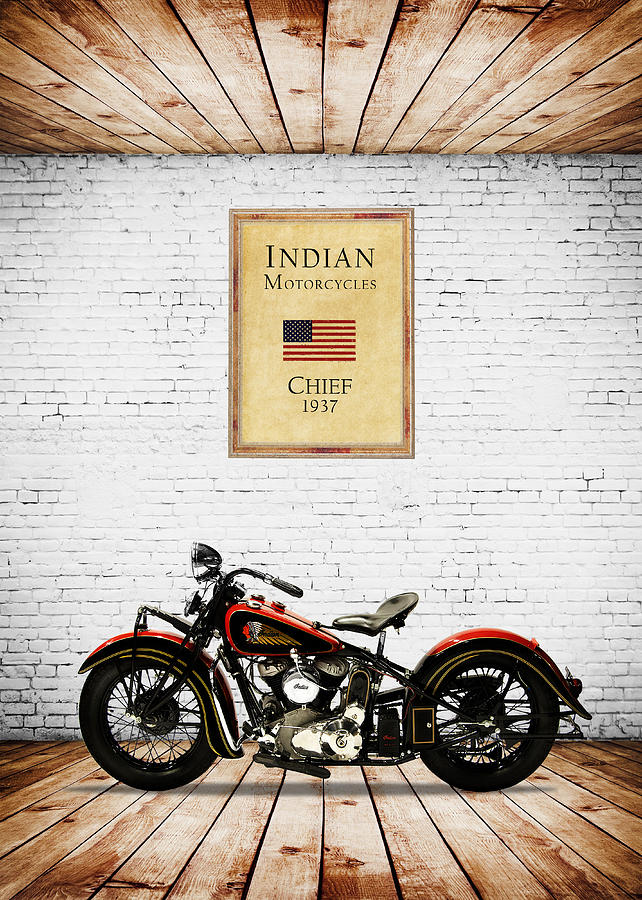 Indian Chief Photograph - Indian Chief 1937 by Mark Rogan