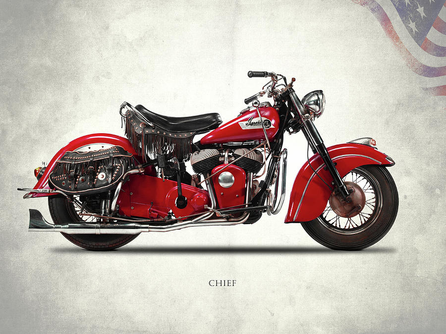 Indian Chief Mark Rogan on indian motorcycle art prints