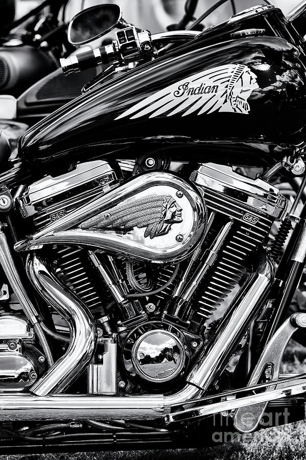 2001 Photograph - Indian Chief Centennial Motorcycle by Tim Gainey