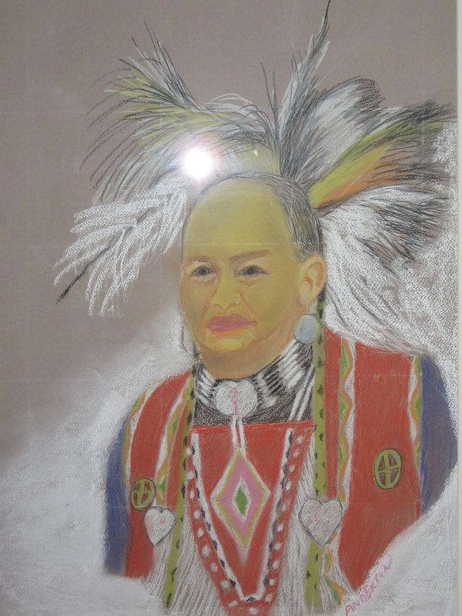 Indian Chief Pastel by Geanene Anderson