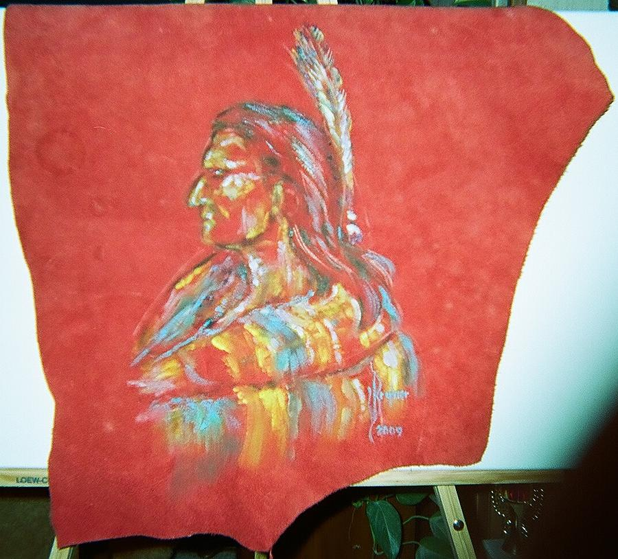 Native American Painting - Indian Chief by Lulu Brymer