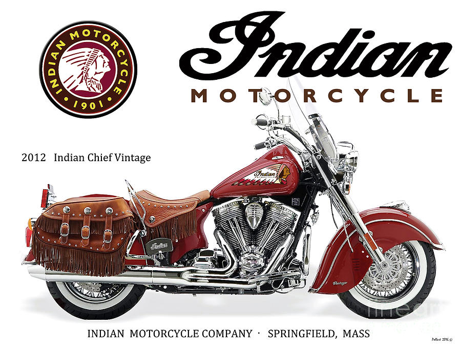 Indian Chief Vintage >> Indian Chief Vintage 2012 Motorcycle Sign
