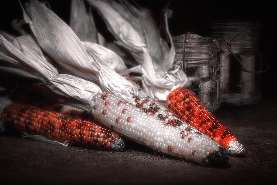 Autumn Photograph - Indian Corn Still Life by Tom Mc Nemar