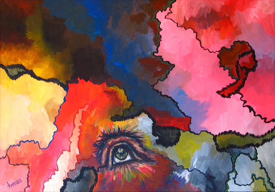 Original Painting - Indian Eye by Laura Tveras