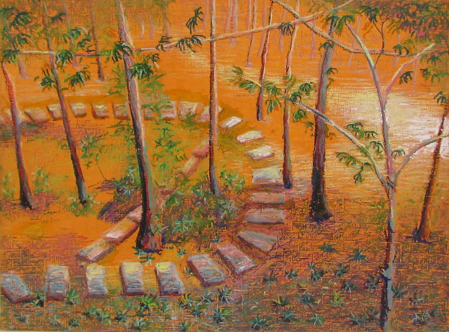 Art Nomad Pastel - Indian Garden by Art Nomad Sandra  Hansen