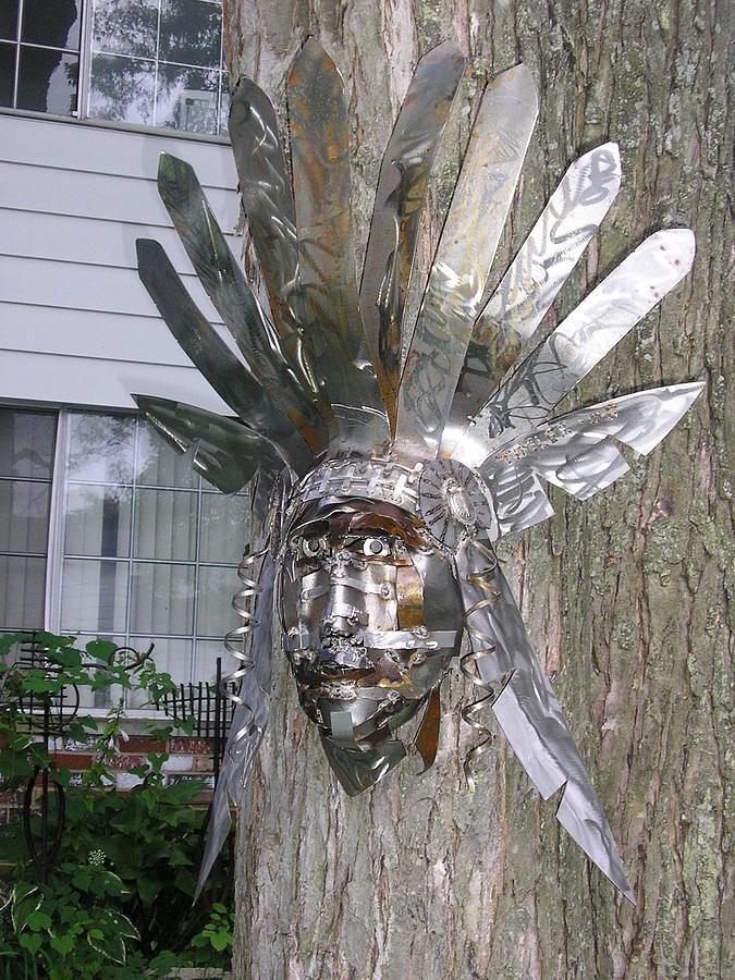 Indian Sculpture - Indian Head by Todd Timler