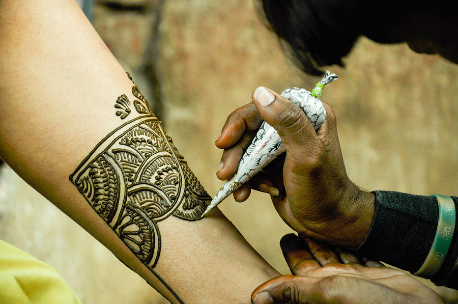 India Photograph - Indian henna by Freepassenger By Ozzy CG