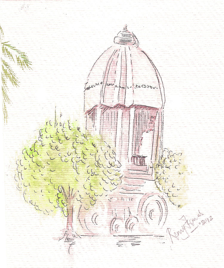 Indian Heritage Painting - Indian Monument - Valluvarkottam by Remy Francis