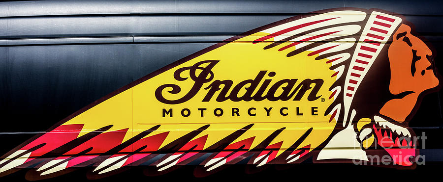 Indian Motorcycle Symbol Photograph By Chellie Bock