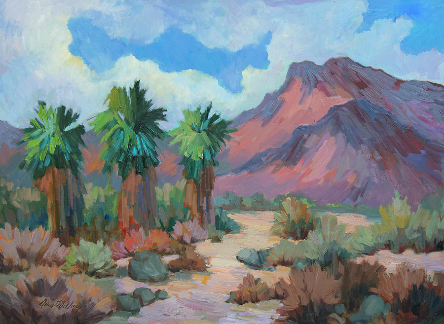 Palms Painting - Indian Mountain - Borrego Springs by Diane McClary