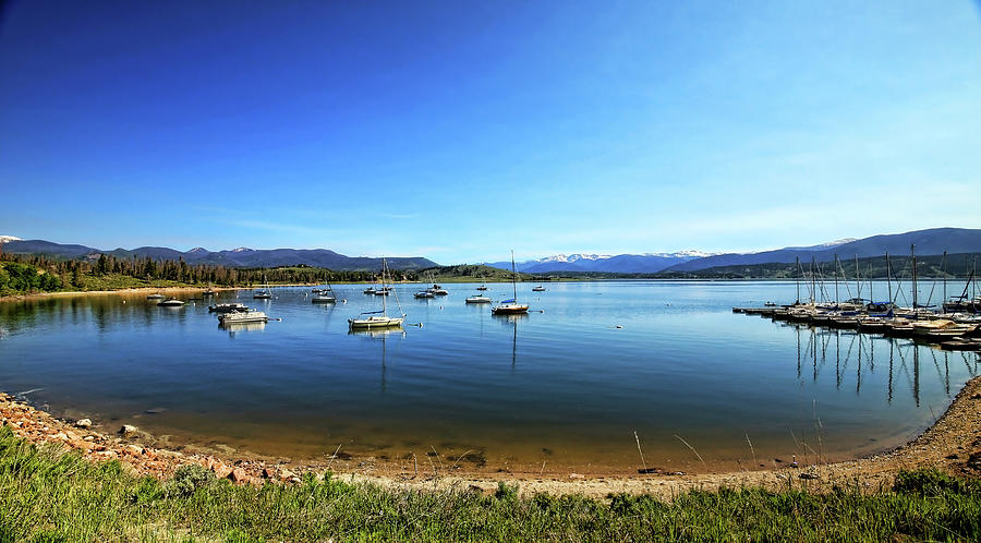 Indian Peaks Marina Pano by Judy Vincent
