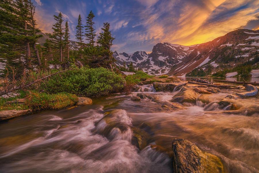 Indian Peaks Sunset Photograph