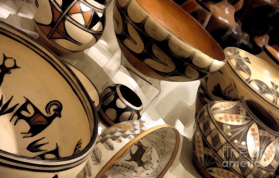 Indian Photograph - Indian Pottery by Linda  Parker