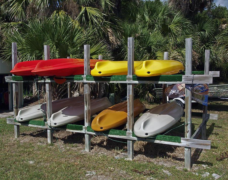 Kayak Photograph - Indian River In Florida by Allan  Hughes