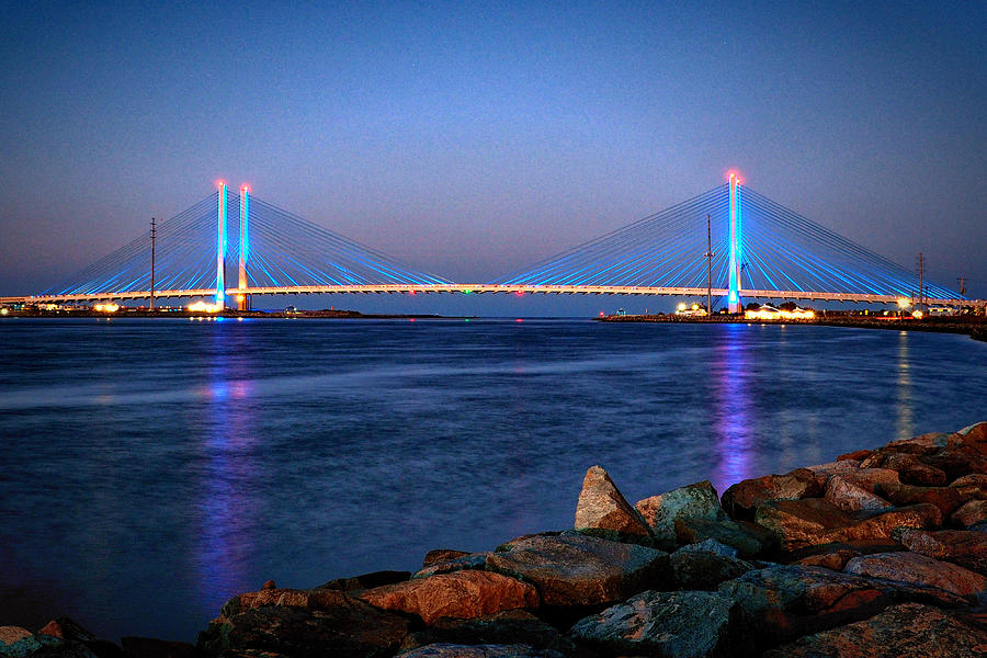 Indian River Inlet Bridge Twilight by Bill Swartwout Fine Art Photography
