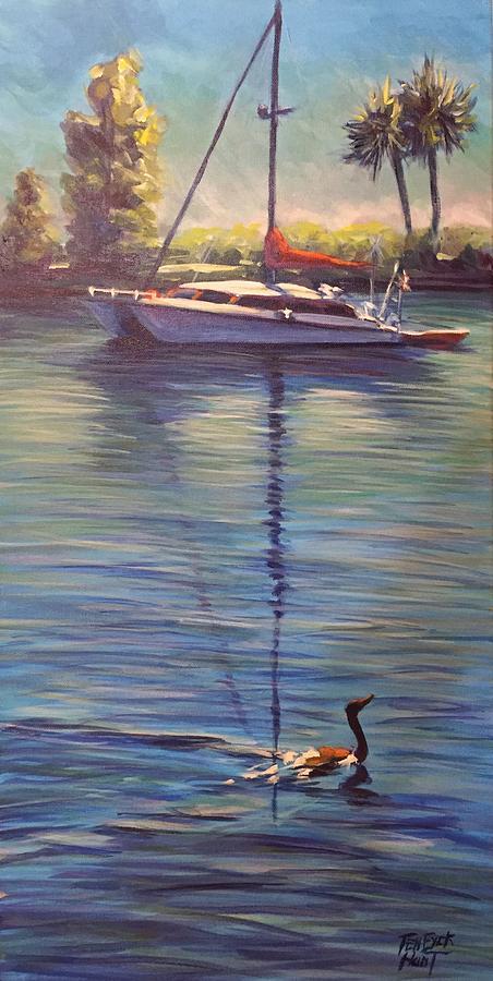 Indian River Lagoon 1,Sailboat by Gretchen Ten Eyck Hunt
