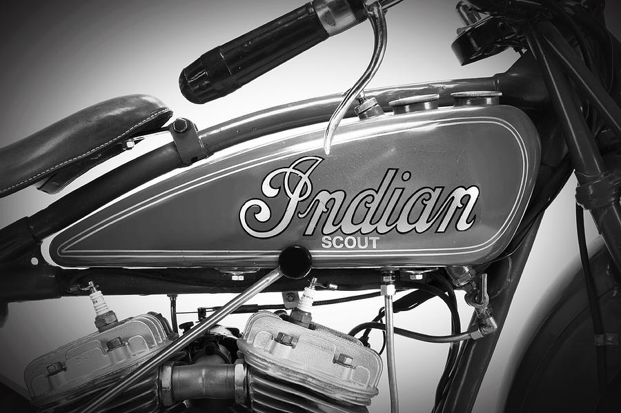 Indian Scout Photograph - Scout Motorcycle Detail by Mark Rogan