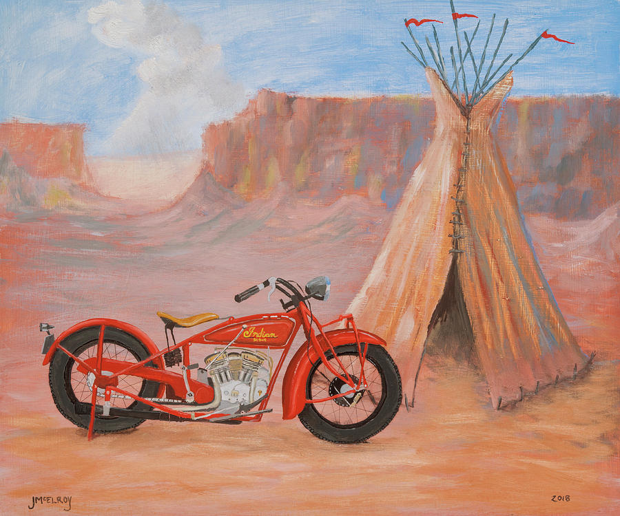 Teepee Painting - Indian Scout by Jerry McElroy