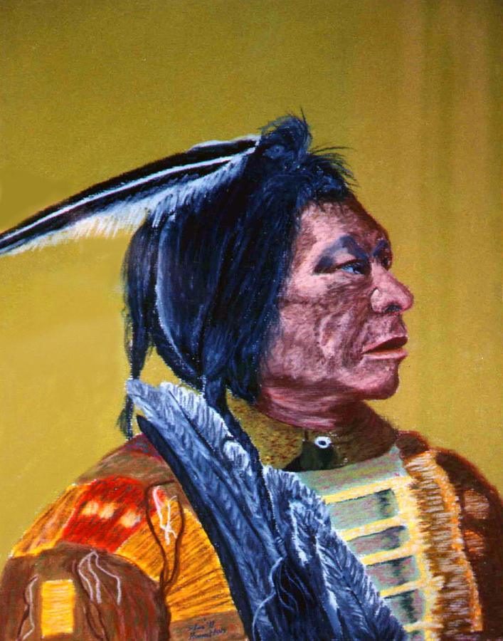 Indian Painting - Indian Scout by Stan Hamilton