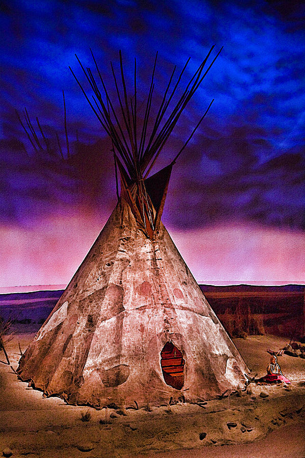 Tepee Photograph - Indian Sculpture 2 by Wendy White