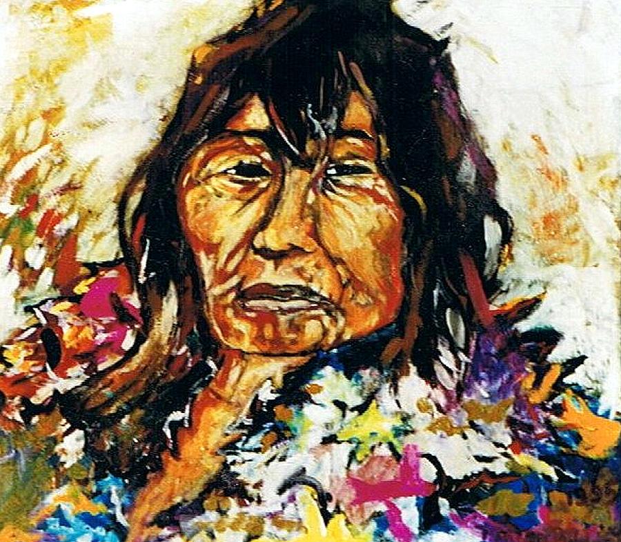 Indian Shaman Painting - Indian Shaman Healer by Morten Bonnet