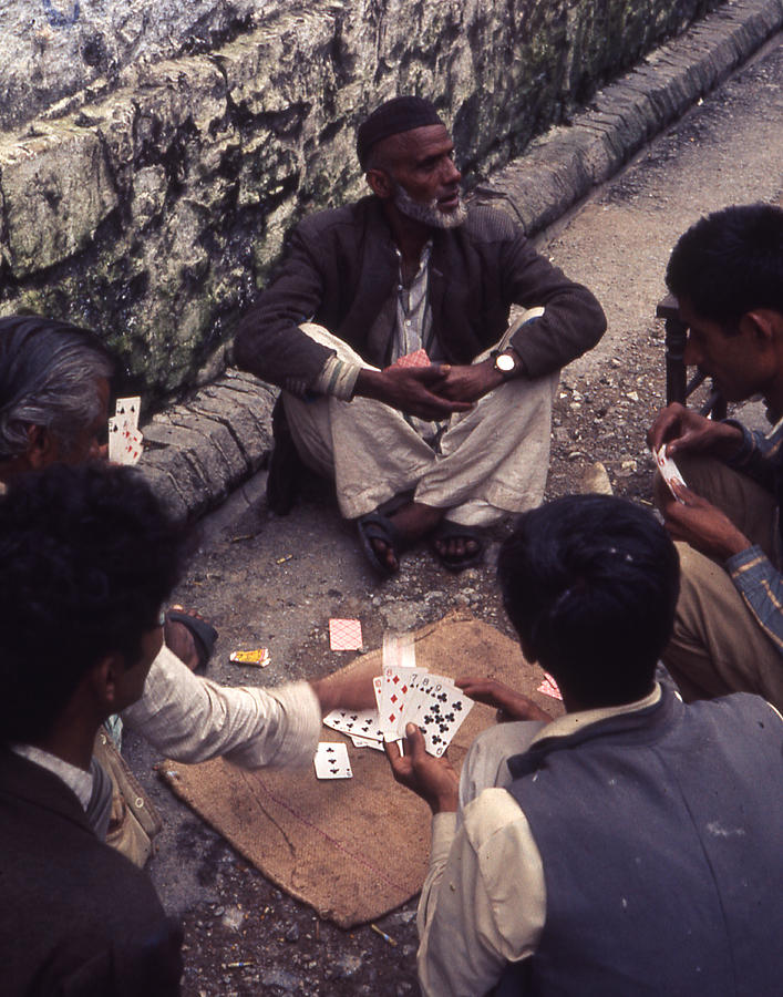 Indian Street Card Game by Robert E Alter Reflections of Infinity