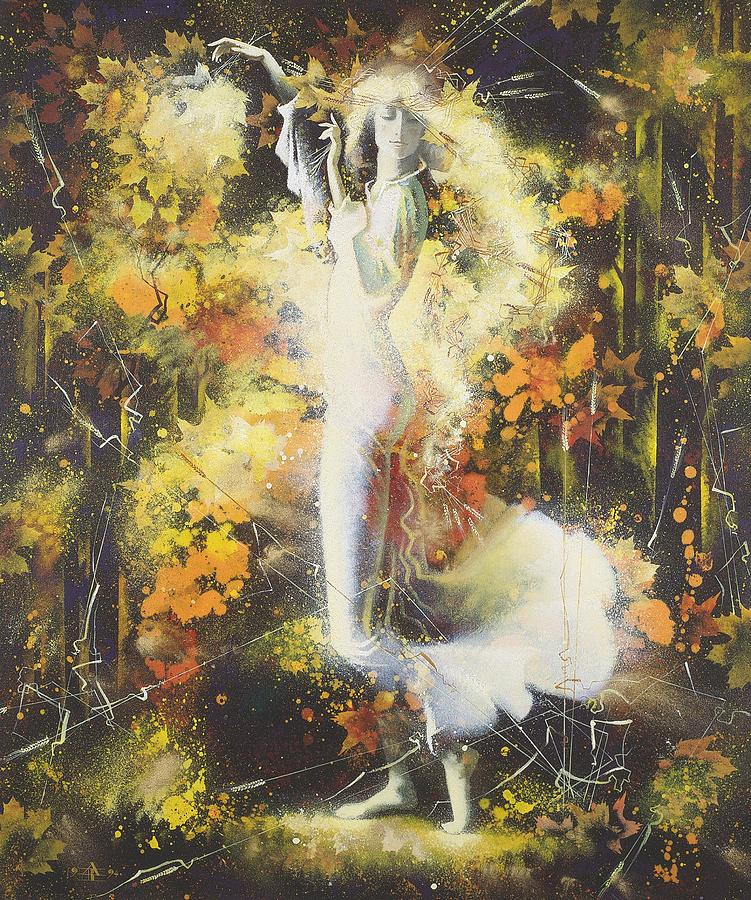 Figures Painting - Indian Summer by Andrej Vystropov