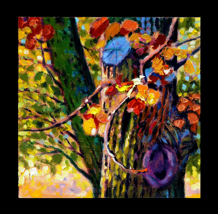 Fall Painting - Indian Summer Detail Eight by John Lautermilch