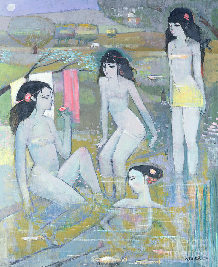 Nude Painting - Indian Summer by Endre Roder
