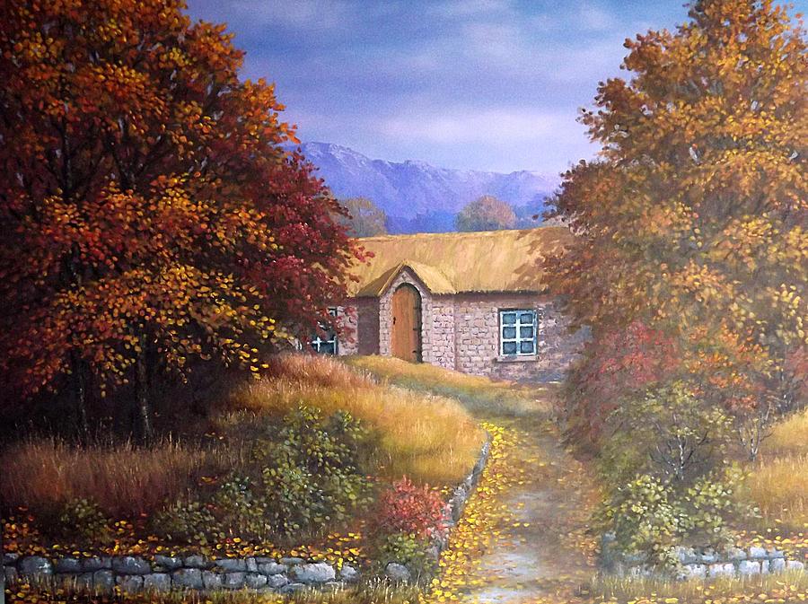 Landscape Painting - Indian Summer House by Sean Conlon