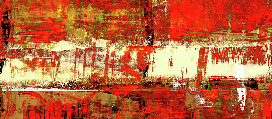Red Painting - Indian Summer - Red Contemporary Abstract by Modern Art Prints