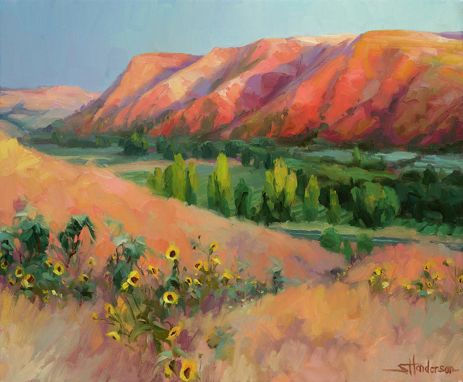 Landscape Painting - Indian Hill by Steve Henderson