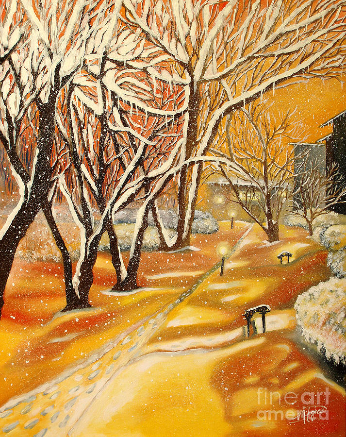 Landscape Painting - Indian Summer Wish by Milagros Palmieri