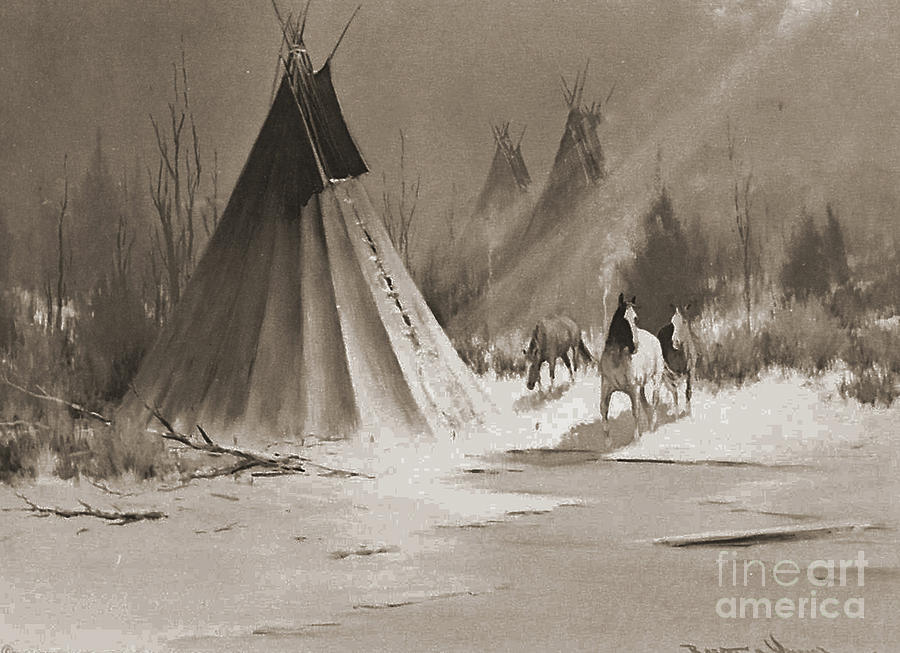 American Photograph - Indian Tee Pee by Gary Wonning