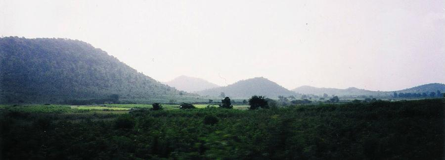 Indian Trainride Scenery by Sherry Oliver