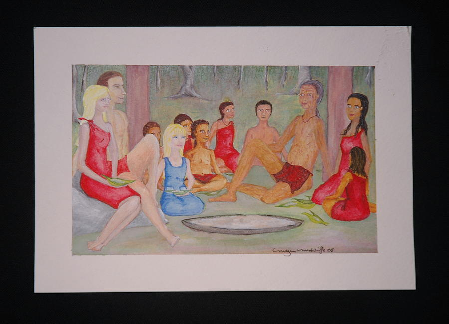Painting Painting - Indian Village Seen by Megen McAuliffe