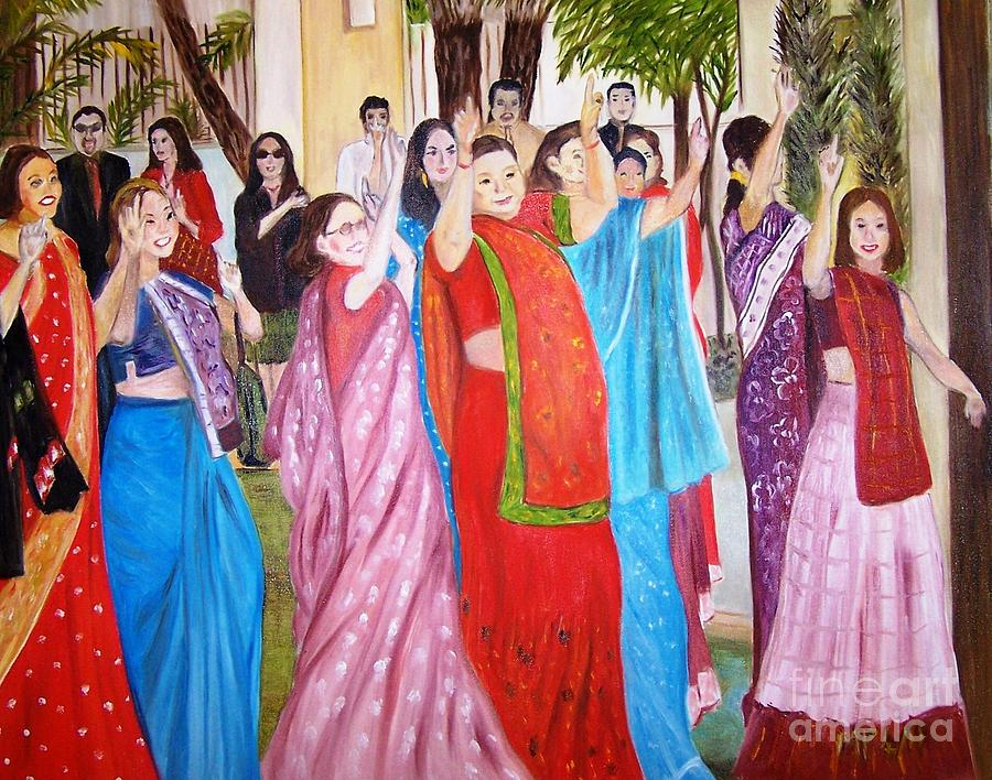indian wedding painting by madeleine prochazka