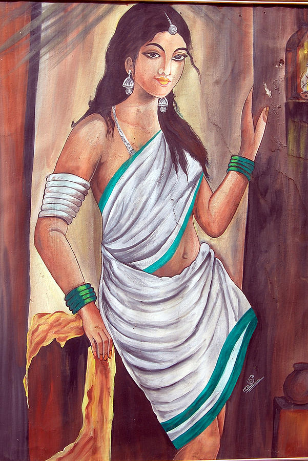 Indian Woman Painting By Sonam Shine