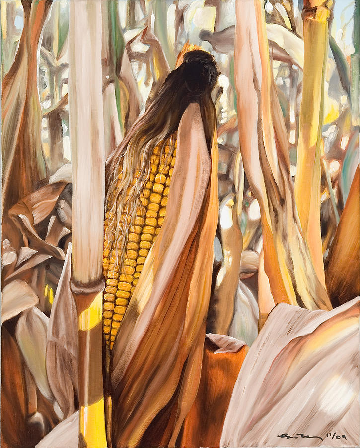 Corn Painting - Indiana Corn II by Kim Estes