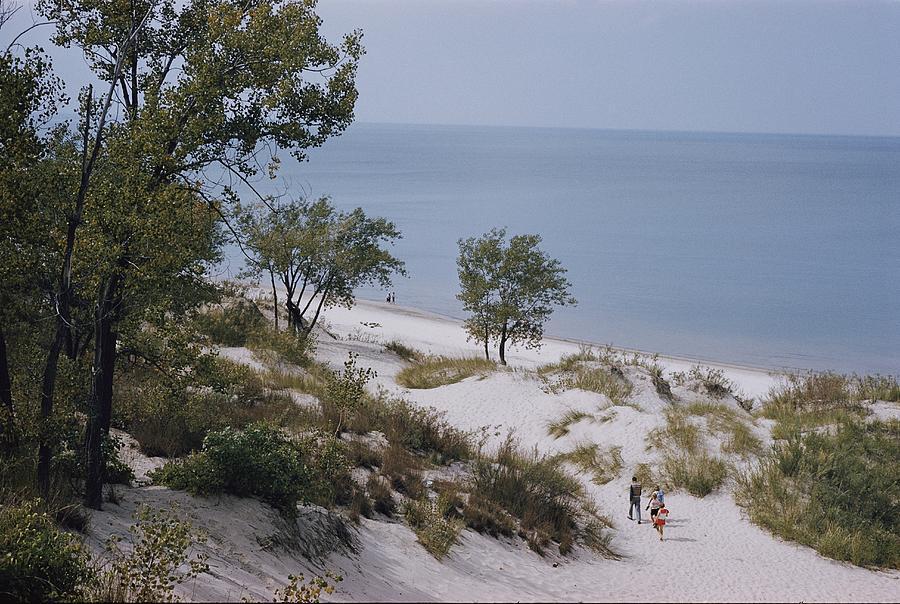 Lake Michigan Photograph - Indiana Dunes State Park Provides by B. Anthony Stewart