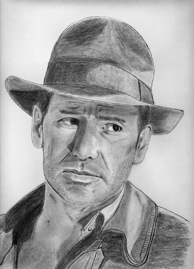 Realistic Drawing - Indiana Jones by Kanase Hangputjaikarn