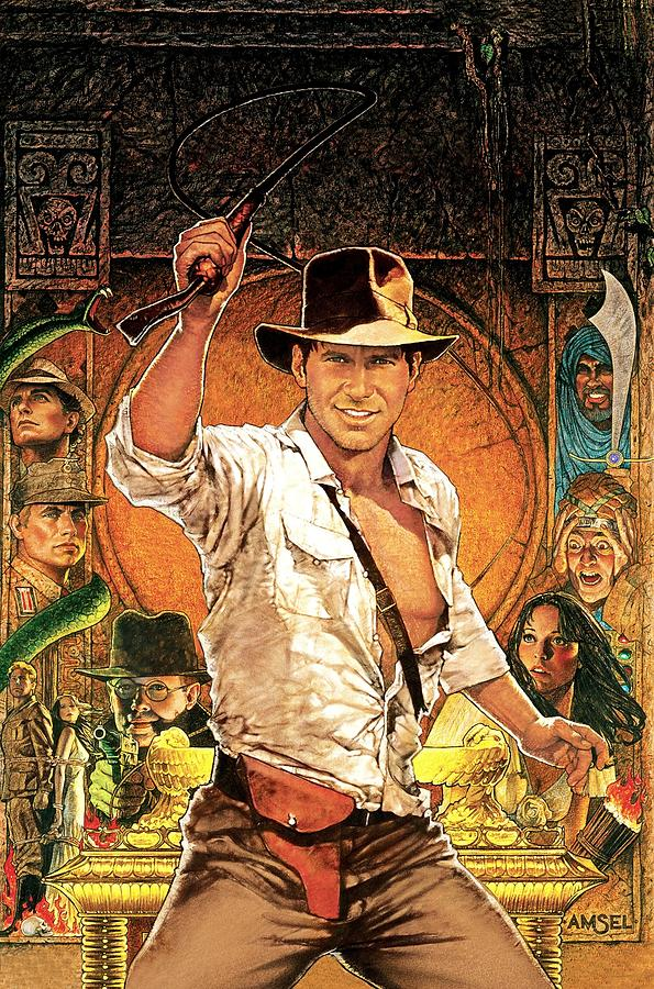 Movie Digital Art - Indiana Jones Raiders Of The Lost Ark 1981 by Geek N Rock