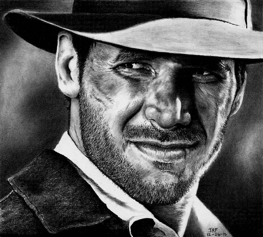 Indiana Jones Drawing - Indiana Jones  by Rick Fortson