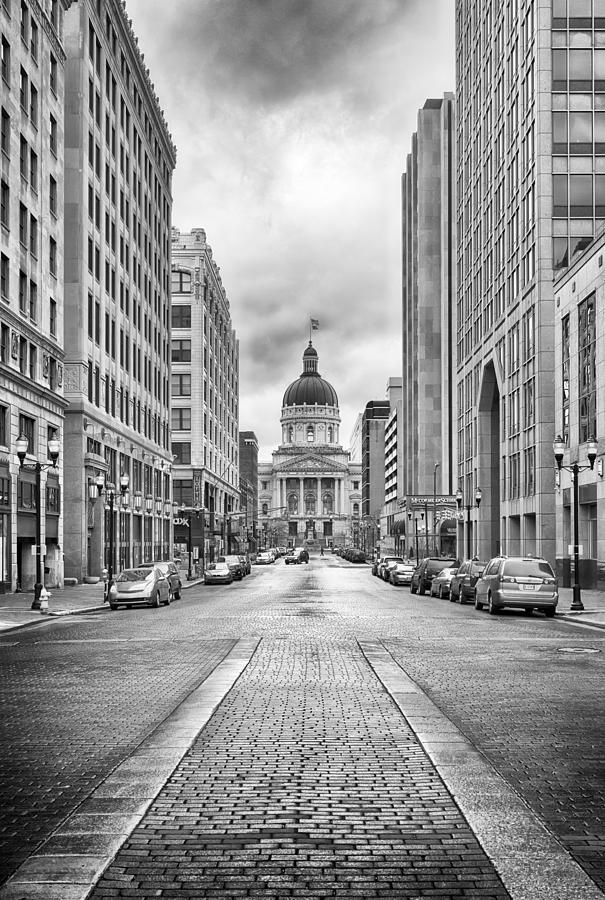 Landscape Photograph - Indiana State Capitol Building by Howard Salmon