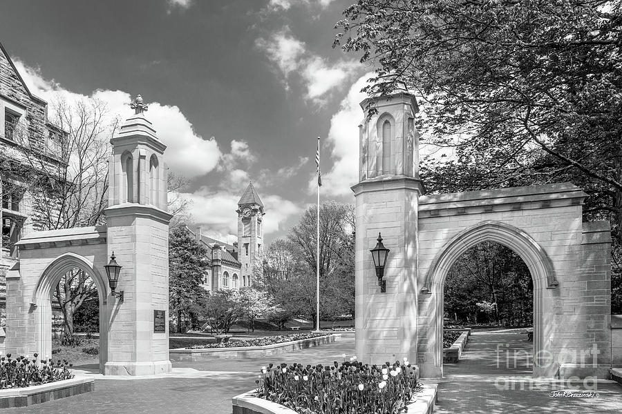 American Photograph - Indiana University Sample Gates by University Icons