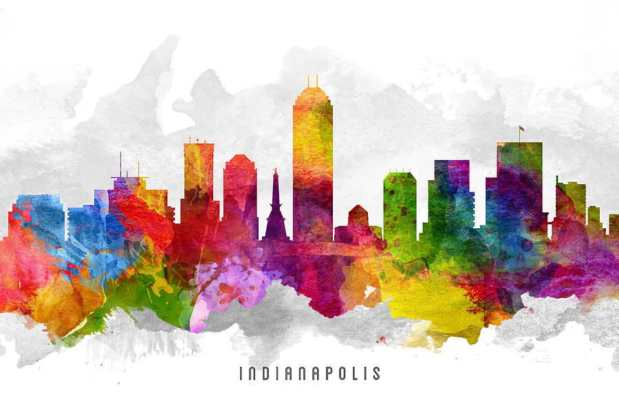 Indianapolis indiana cityscape 13 painting by aged pixel for Indianapolis painting company