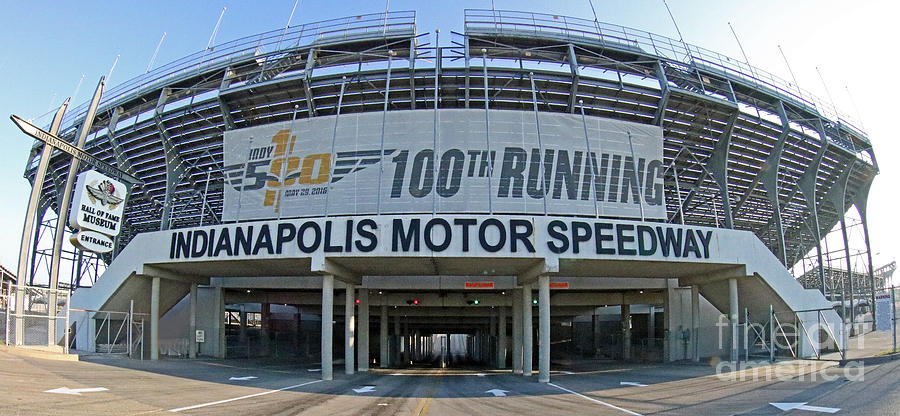 Entrance Photograph - Indianapolis Motor Speedway by Steve Gass